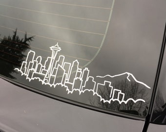 Seattle skyline decal