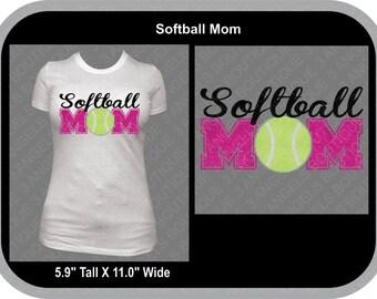 Softball Mom  SVG Cutter Design INSTANT DOWNLOAD