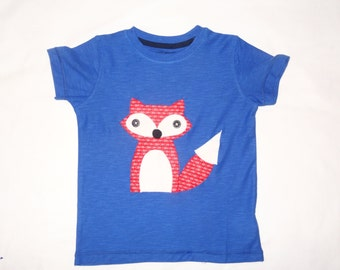 Personalized child fox t shirt / Appliqued fox t shirt / fox t shirt