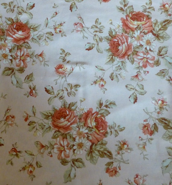 shabby chic home decor fabric cotton fabric home decor quilt floral shabby chic roses 13053