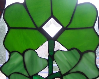 Stained Glass Shamrock Sun-Catcher