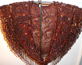 Rust Beaded Collar
