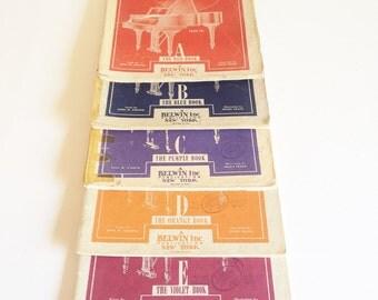 Piano Intruction Books - Full Set of Five Instructional John W Schaum Piano Course Books - Published by Belwin Inc. New York - Piano Books