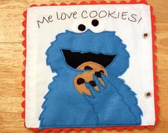 Cookie Monster Sesame Street Quiet Book Pattern