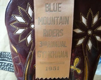 1950s Blue Mountain Riders Gymkhana Equestrian Show Ribbon Parade Marshall
