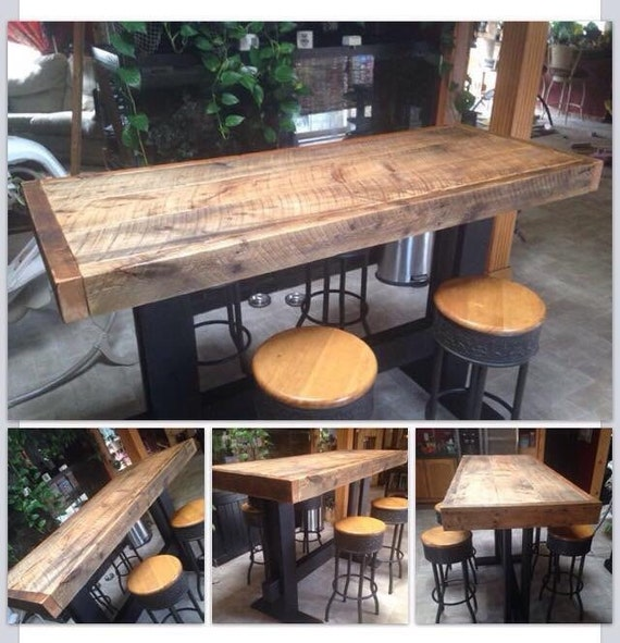 Items Similar To Farm Style High Top Pub Table Dining Harvest Reclaim Barn Wo