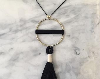 No. 6 // Fiber Necklace // Tassel Necklace