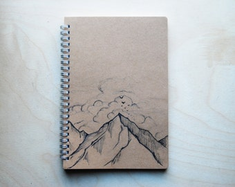 Travel Journal Mountains & Quote