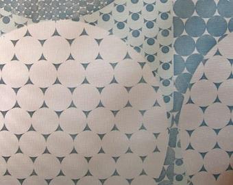 1960's Original Metallic Fab Atomic Geometric Wallpaper - Mid Century Modern
