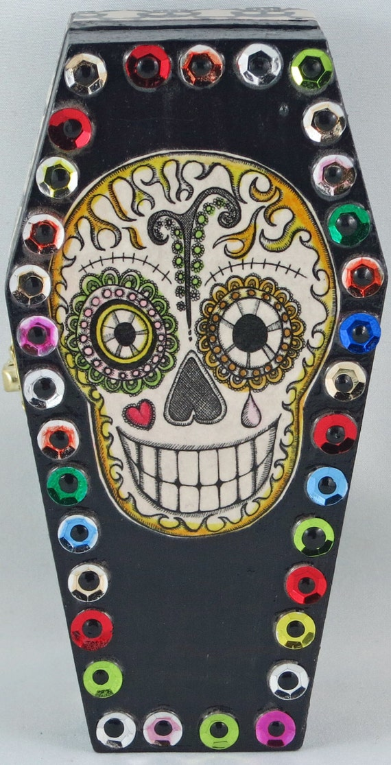 Dia De Los Muertos Coffin Box Day Of The Dead Sugar
