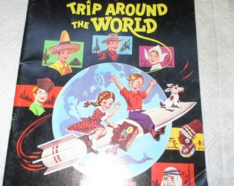 Vintage Trip Around the World Color by Number Book