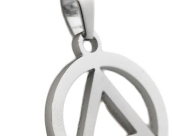 12 Step Recovery Pendant Stainless Steel Necklace