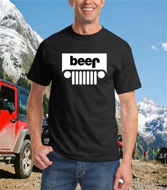 "Jeep "" Beer "" Novelty Shirt - Funny Novelty Apparel"