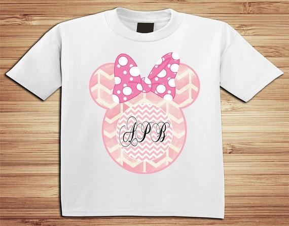 Personalized monogram Minnie Disney  T Shirt - Disney, Clubhouse, Minnie, Goofy, mickey