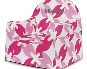 P'kolino Personalized Patterned Little Reader Chair (add name to be personalized in Notes)