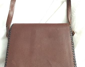 Brown original 1950's leather bag