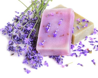 Beautiful, soothing and luxurious Lavender soap, carefully and lovingly made with the best natural ingredients imaginable.  Comes in pair.