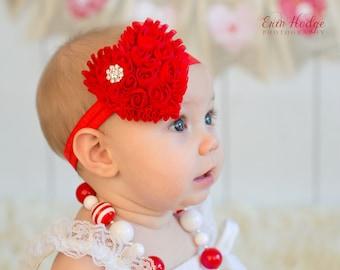 Choose Color, Valentine Headband,   red baby Headband,  heart headband, red headband, baby hair bow,  newborn Headband, Toddler Headband
