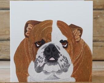 Bulldog - Greeting card