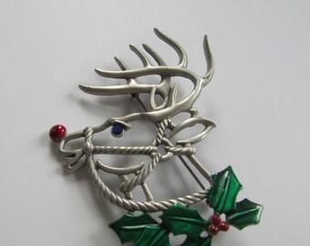 JJJonette Rudolph The Reindeer Brooch