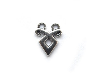 6 Silver Double Loop Charms