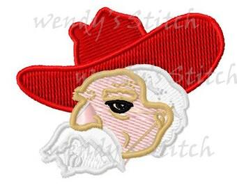 Ole Miss Colonel machine embroidery design small size
