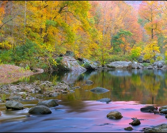 Nature Photography, Richland Creek Wilderness Area, Arkansas, Fall Color, Ozarks, Water, Creek, Rocks