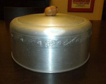 Aluminium Cake Stand Cover Raised Acorns Wooden Acorn Knob
