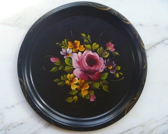 Hand Painted Platter, Wall Hanging