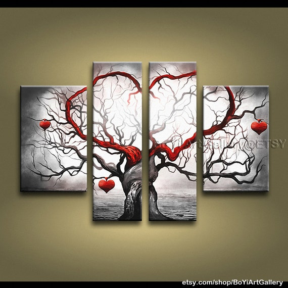 """Original Large Amazing Contemporary Wall Art Of Tree High Quality 60"""" x 38"""""""