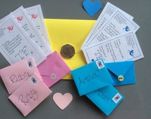Personalised Tooth Fairy Letters x 22 plus envelopes - tiny and personalised FREE postage within UK