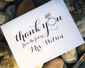 Thank You Gifts For Wedding Guests Gauteng : ... you from the future mrs thank you notes wedding shower shower gift set