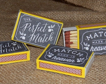 Matchbox favours. Wedding favours.