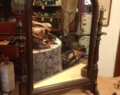 Desser Top Mirror from 1930's, Measures approx 22 x 16, No breaks or chips