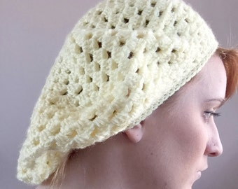 Lemon Crochet Beret