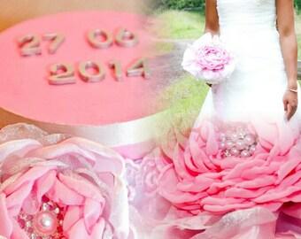 Bridal Bouquet One flower pink