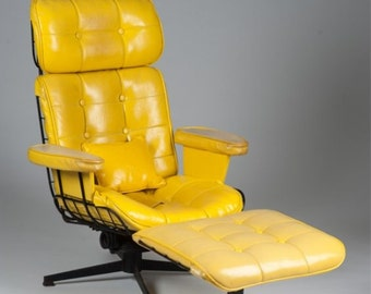 Homecrest Wire Lounge Chair and Ottoman