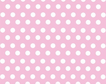 Light pink with white polka dot pattern craft  vinyl sheet - HTV or Adhesive Vinyl -  medium polka dots HTV1614