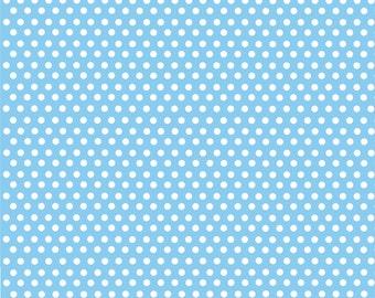Light blue with white mini polka dots craft  vinyl sheet - HTV or Adhesive Vinyl -  polka dot pattern HTV2315