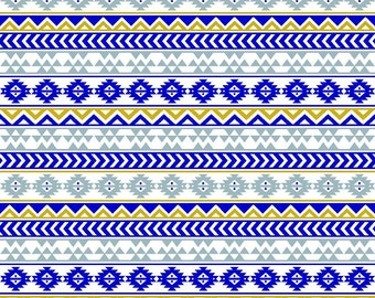 Navy gold and gray tribal pattern craft sheet - HTV or Adhesive Vinyl -  Aztec Peruvian pattern HTV933