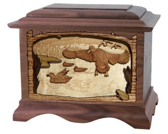 Walnut Marshland Duck Ambassador Wood Cremation Urn