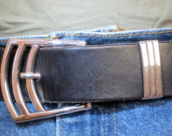 fabricated sterling belt buckle