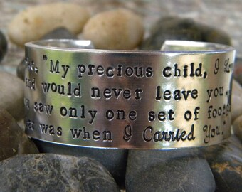 Footprints in the sand bracelet
