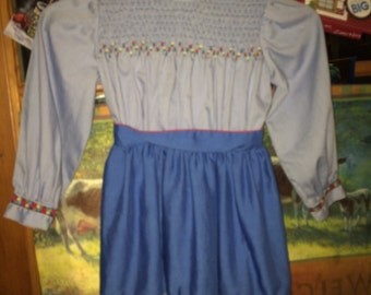 Very Vintage Pretty Blue Dress -- for Doll  (or Girl?)