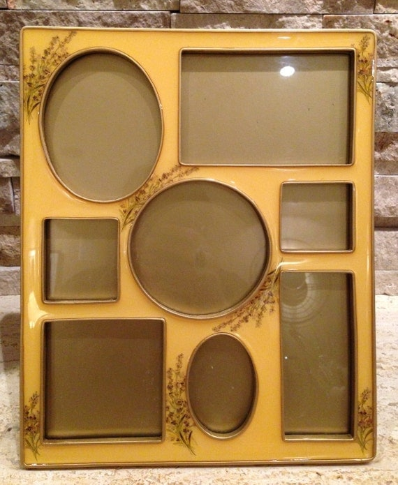 Beautiful vintage collage picture frame light by for Modern collage frame