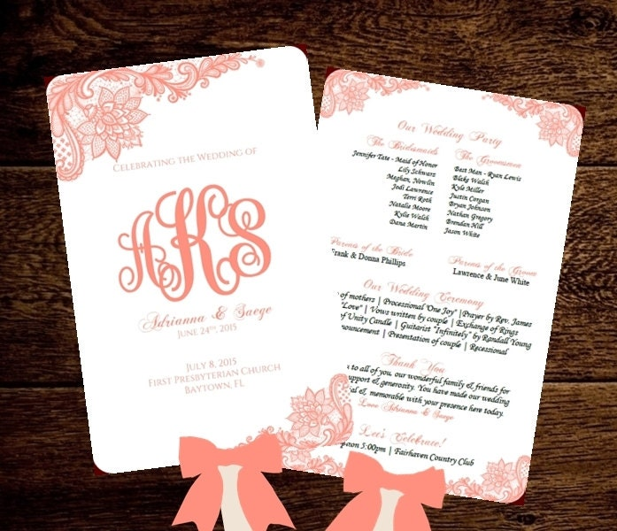 Wedding fan program printable template by pixelromance4ever for Wedding program fans templates free