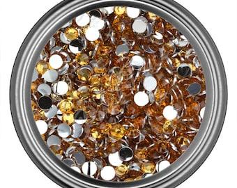 Topaz Rhinestone Gems Flat Back Face Art Nail Art Scrapbook Phone Decoration 2mm 3mm 4mm 5mm 6mm