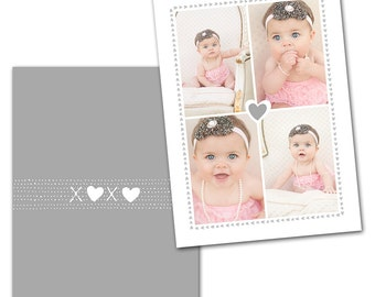 Sweetly Subtle Card 4 - Designed Photoshop Template for Custom Photography Cards