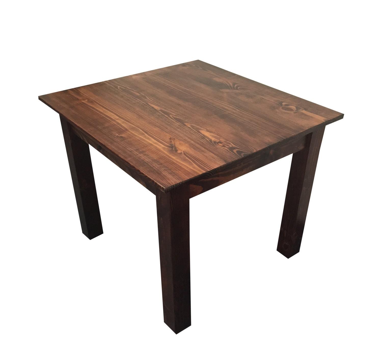 Smooth Top Farmhouse Table Mahogany Finish