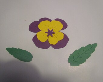 pansy flower die cuts